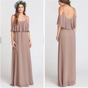 Show me your mumu Caitlin ruffle dune maxi dress